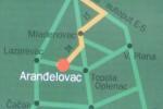 Mapa - Kako stići do Arandjelovca